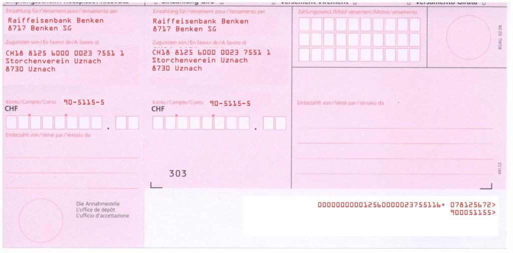 Einzahlungsschein